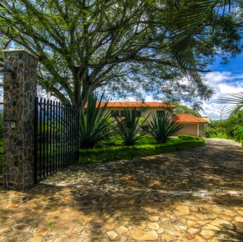 Villa Doughty Gated Entrance
