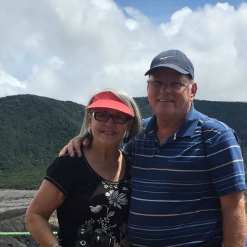 Steve and Dianne at Poas Volcano