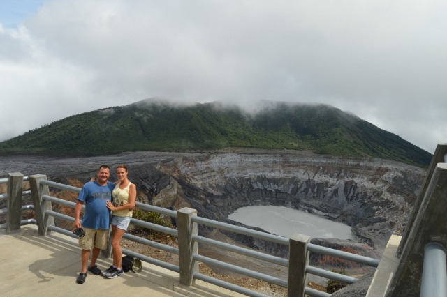 Visiting Poas Volcano Crater